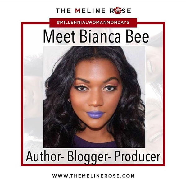 Biana Bee on the meline rose